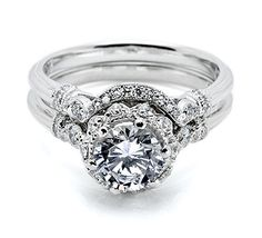 the absolute most unique and beautiful engagement ring and wedding band :)