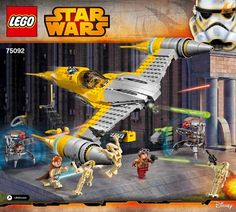 View LEGO instructions for Naboo Starfighter set number 75092 to help you build these LEGO sets