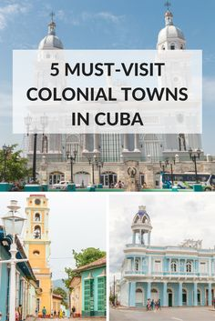 Discover the 5 must-visit colonial towns in Cuba: Trinidad, Cienfuegos, Camagüey, Sancti Spiritus, and Santiago de Cuba. Get to know Cuba outside Havana! Varadero, Vinales, Trinidad, Cuba Island, Travel Around The World, Around The Worlds, Havanna, Visit Cuba, Cienfuegos