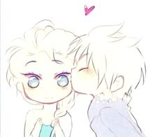 Jack and Elsa chibi