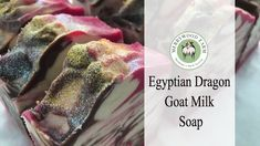 Egyptian Dragon | Making & Cutting Goat Milk Cold Process Soap | In-the-...