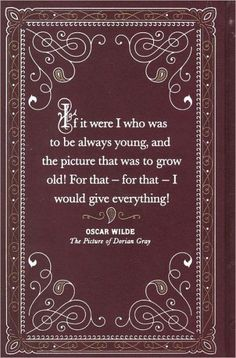"""""""The Picture of Dorian Gray"""", the back cover of the book, By Oscar Wilde."""