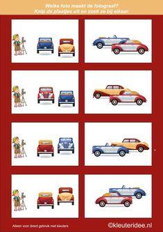 Welke foto maakt de fotograaf 4, kleuteridee.nl , denkontwikkeling en ruimtelijk inzicht voor kleuters, free printable.
