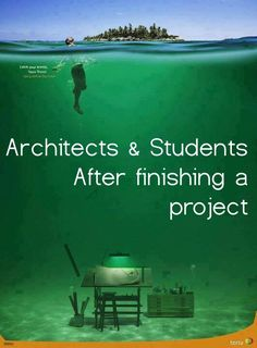 Architects & students when finishing a project