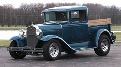 Vintage Trucks Muscle 1931 Model A Ford Old Pickup Trucks, Old Ford Trucks, Hot Rod Trucks, Cool Trucks, Cool Cars, Farm Trucks, Antique Trucks, Vintage Trucks, Antique Cars