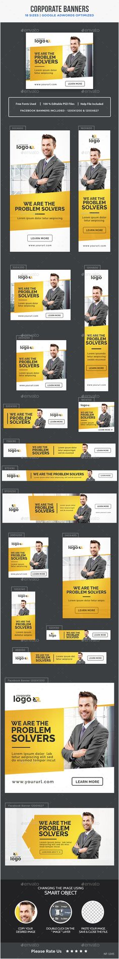 Corporate Banners Template PSD. Download here: http://graphicriver.net/item/corporate-banners/16584101?ref=ksioks