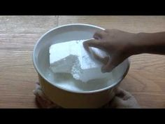 """The Acetone is not actually """"dissolving"""" the Styrofoam. Here is what is happing. When styrofoam is placed in acetone, the long polymer strands are dissolved,. Science Projects For Kids, Cool Science Experiments, Craft Activities For Kids, Science For Kids, Projects To Try, Monster Mud, Prop Making, Acetone, Kunst"""