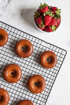 Strawberry Donut Cakes | 27 Delicious Paleo Recipes To Make This Summer