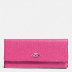 Coach Soft Wallet ($150) ❤ liked on Polyvore featuring bags, wallets, red, snap closure wallet, 100 leather wallet, pocket wallet, real leather wallets and leather pocket wallet