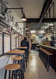 Cheap Home Decoration Stores Bistro Interior, Coffee Shop Interior Design, Coffee Shop Design, Cafe Design, Bar A Vin, Café Bar, Small Restaurant Design, Restaurant Interior Design, Interior Designers Sydney