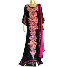 Celebration: Pakistani Floor length kaftan suit with hand embroidery! Shop @ https://www.studiokairi.com/product.php?product=kairi209