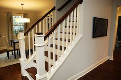 Ideas For Basement Stairs Ideas Staircase Remodel Half Walls Stairs In Living Room, House Stairs, My Living Room, Basement Stairs, Small Living, Loft Stairs, House Wall, Staircase Remodel, Attic Remodel