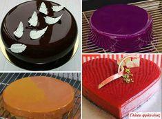 Διάφορα γλάσα για επικάλυψη τούρτας και διαφόρων γλυκών. Συνταγές - Οδηγίες - Βίντεο Cooking Tips, Cooking Recipes, Sugar Paste, Cream And Sugar, Glaze, Food And Drink, Rolls, Pudding, Sweets