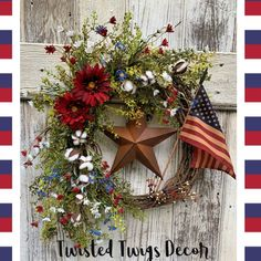 Patriotic wreath Rustic of July wreath Fourth of July decor Front door wreath for of July Americana wreath American Flag wreath Fourth Of July Decor, 4th Of July Decorations, July 4th, 4th Of July Wreaths, Spring Wreaths For Front Door Diy, Memorial Day Decorations, American Flag Wreath, Memorial Day Wreaths, Patriotic Wreath