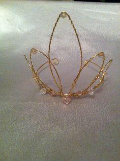 Regal Pink Tiara Original Design  A Wire Crown A by WirePrincess, $27.00