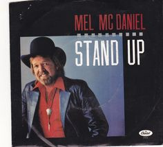 """Mel McDaniel / Stand Up / I Feel A Storm Coming / 7"""" Vinyl 45 RPM Record & Picture Sleeve #MelMcDaniel #Country"""