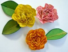 Tutorial for the cutest card stock roses ever