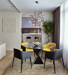Moscow apartment - dining, lustra