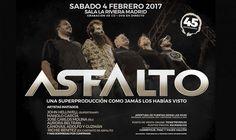 Asfalto concierto 45º aniversario en La Riviera