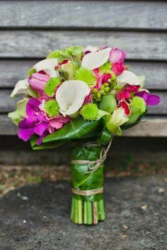 Tropical Wedding Bouquet - I really like the colours! Tropical Wedding Bouquets, Floral Wedding, Tropical Weddings, Luau Bridal Shower, Alternative Bouquet, Printable Bridal Shower Games, Kauai Hawaii, Tropical Landscaping, Hawaii Wedding