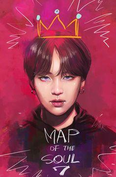 BTS Suga map of the soul Bts Chibi, Foto Bts, Bts Photo, Bts Suga, Jhope, Ahri Star Guardian, Staubige Rose, Bts Anime, Fanart Bts