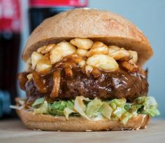 The Poutine Brgr at Jukebox Burger in Montreal.  Poutine is the bomb.com!!! Fav Canadian dish!