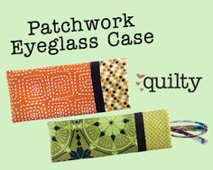 Mix and match pre-cuts to make a different case each day of the week. You'll fly right through this quick and easy one day quilt project! Patchwork Eyeglass Case with Emily Lang at QNNtv.com