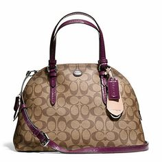 Coach Cora Peyton Signature Domed Satchel Black   White Coated Canvas Leather  Shoulder Bag off retail 3a78f0b681bca