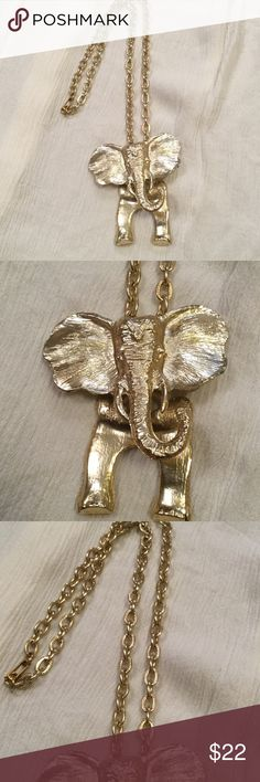 "Elephant movable necklace NWOT Measures 13"" never worn Roll Tide Jewelry Necklaces"