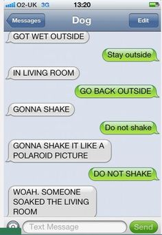 21 Hilarious Texts From Your Dog -- If Your Dog Could Text - Autocorrect Fails and Funny Text Messages - SmartphOWNED Check out the website to see