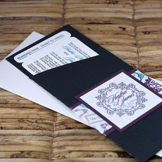 Boarding Pass Invitation or Save the Date  (Purple and Turquoise Passport Stamps) - Deposit and Design Fee