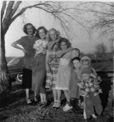 All 8 grandchildren at one time....1950, Texola, Oklahoma on Route 66.