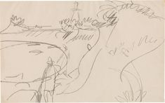 Bleistift auf Papier 29,5 x 47,4 cm Schätzpreis: 15 000 - 25 000 € Modern Art, Contemporary Art, Ernst Ludwig Kirchner, Lighthouse, Art Nouveau, Coast, Auction, Davos, Basel