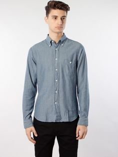 R. Indigo Oxford Ministripe HO Shirt by Gant Rugger - APLACE Fashion Store & Magazine