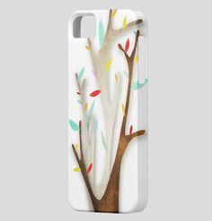 Cute iPhone 5 Case  White Tree