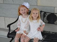 The Autumn - Soft White Flower Girl Lace Dress for toddlers and girls sizes, 1T,2T,3T,4T,5T,6,7/8,9/10,11/12,13/14