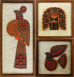 Three Hornsea Muramic wall plaques for sale by & on behalf of @Clare Thompson Heart Foundation