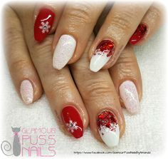 Light Elegance Gel Nails with Christmas stamping