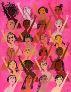 Illustrated Ladies — brigettebrigettebrigette: Rise up with fists!///I love this picture of diverse women speaking up Feminist Af, Intersectional Feminism, Women Empowerment, Girl Power, Woman Power, Artsy Fartsy, Equality, Artwork, Illustration Art