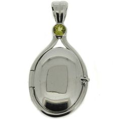 .925 Sterling Silver Light Green CZ Locket H2O Just Add Water Mermaids Pendant #Locket