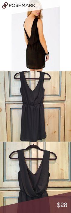 Black Tobi Sweet Drop Dress Size Small Tobi Sweet Drop Dress in black - low back and elastic waist. Size Small. Worn only once! Tobi Dresses Mini