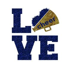 LOVE Pom Megaphone Cheer Iron On Decal by GirlsLoveGlitter on Etsy