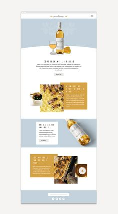 De Drie Vaandels Mead - Wine Package design on Behance Website Design Inspiration, Website Design Layout, Web Layout, Layout Design, Blog Layout, E-mail Design, Design Sites, Wine Design, Flat Design