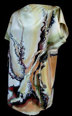 Tunika - jedwab ręcznie malowany http://www.jedwabnerekodzielo.sklepna5.pl/