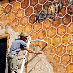 VIDEO - Mural artist Matt Wiley shares his insights about bees and why he has been inspired to paint 50,000 bees on walls across the country.