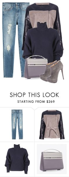 """""""Distressed"""" by cherieaustin ❤ liked on Polyvore featuring 7 For All Mankind, Balenciaga, Eddie Borgo and Giuseppe Zanotti"""