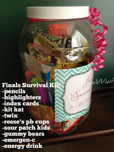Great gift for high school or college students #finals #survival #kit #FinalsSurvivalKit