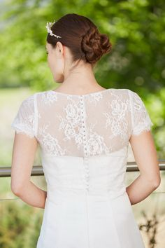 Lace Jacket with Button Up Back Wedding Jacket, Lace Jacket, Bridal Accessories, Button Up, Wraps, Wedding Dresses, Jackets, Fashion, Bride Gowns