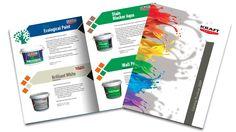 Kraft paints 2009 catalog - design Victor Calomfir Catalog Design, Brochures, Portfolio Design, Flyers, Graphic Design, Painting, Portfolio Design Layouts, Ruffles