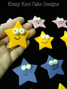 Stars cupcakes toppers